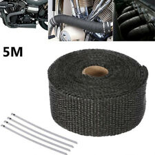 5M Car Motorbike Exhaust Manifolds Glass Fiber Thermal Heat Insulation Tape Kits