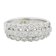 14K White Gold 0.75 Ct GVS1 Diamond Ring 3.8 Grams Ring Size 5.5