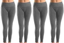 Lot of 4 Women Soft Cotton Spandex Yoga Sweat Lounge Gym Sports Pants Gray S
