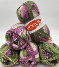 Vogue Double Knitting Crochet Yarn Wool 5 x 100g Balls - Self Stripe Variegated