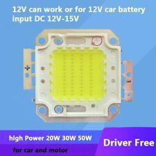 20W 30w 50w Warm White DC 12V~15V 1.5A~4A LED Light Parts For Car 12V Battery