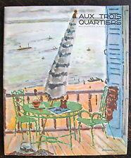 Aux trois quartiers,boulevard LA Madeleine,catalogue 1937,couverture CAVAILLES