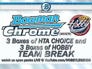 SEATTLE MARINERS 2020 BOWMAN CHROME 6 BOX MIX (3 HTA + 3 HOBBY) TEAM BREAK #27