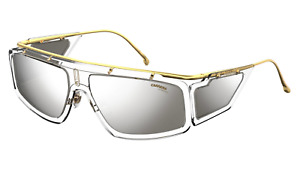 CARRERA FACER 900 T4 Sunglasses Gold Crystal Frame Silver Mirror Lenses 62mm