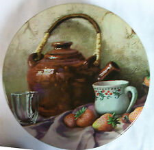 0904  TEAPOT WITH STRAWBERRIES AND LADYBUGS ~ TRINKET BOX