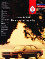 1995 Maserati Ghibli Coupe V2 -  UK - Classic Vintage Car Advertisement Ad J32