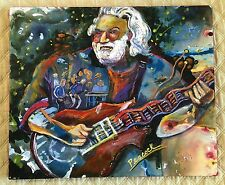 "2004 JERRY GARCIA GRATEFUL DEAD ACRYLIC on 20""X24"" CANVAS PAINTING NANCY PEACOCK"