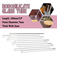 10x Length 150mm OD 7mm 2mm Thick Wall Borosilicate Glass Blowing Tube