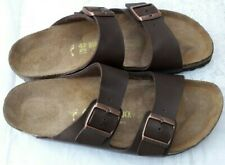 BIRKENSTOCK BROWN ARIZONA SANDALS - UK 8, EUR 42 - NARROW FIT