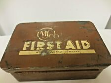 Vintage Military MSCO Medical Supply Co First Aid Kit-Metal Hinged Case-AS IS