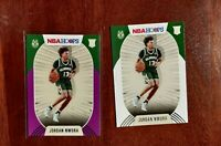 Jordan Nwora 2020-21 Panini NBA Hoops Purple AND Base Cards RC