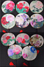 CHINESE TRADITIONAL FLOWERS 11 PATTERNS SILK HAND ROUND FAN - WEDDING PARTY GIFT