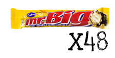 Mr. Big Chocolate Candy Bar 60g x 48 Canadian FRESH FROM CANADA