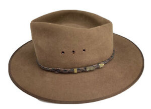 GENUINE AKUBRA CATTLEMAN HAT  SIZE  57 NEW WITH TAGS