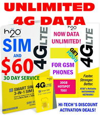 H2O H20 WIRELESS SIM + 🔥 $60 FIRST MONTH PLAN INCLUDED 🔥 UNLIMITED DATA 🔥