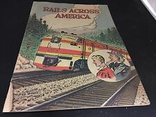 RAILS ACROSS AMERICA 1968 PROMO COMIC BOOK RAILROADS VINTAGE PICTURE BOOK
