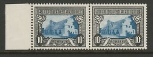 South Africa 1933-48 10/- Blue & charcoal, Spot in frame R 5/1 SG 64ca Mint.