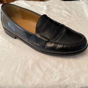 Cole Haan Mens Pinch Penny Loafer Dress Shoes Black Moc Toe Slip On 10D
