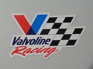 Valvoline Racing Sticker Decal Large V Checkered Flag Hot Rod NOS 7948