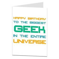 Happy Birthday Card Geek Nerd Brother Sister Her Him Male Female Computer Techie