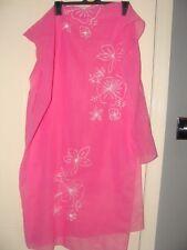 Pink Sarong Floral Embroidered Design