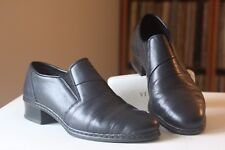 Rieker  Antistress Black Leather Pleated Slip On Loafers Shoes UK Size 6 1/2