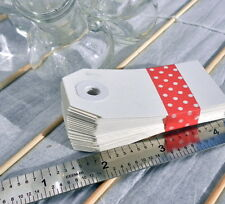 Small White DIY Paper tags set of 50 for scrapbooking favors gifts altered art
