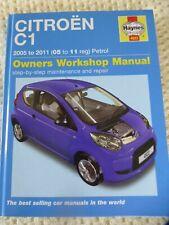 Haynes Workshop Manual Citroen C1 Peugeot 107 2005 -2011 Pristine NR