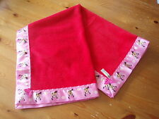 Baby bedding Handmade Minnie Mouse Satin and Red Fleece Fleece Blanket