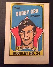 1971-72 OPC Topps Bobby Orr Booklet #24 HOF