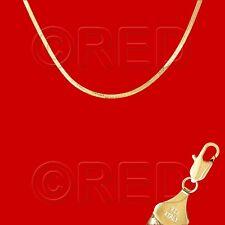"Italian Gold Vermeil Quality Stamped Herringbone 3mm Width - 18""   NECKLACE H3E"