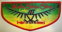 OA WAH-SHA-SHE LODGE 42 OZARK TRAILS COUNCIL MO PATCH OSPREY BROTHERHOOD FLAP
