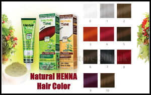 HERBAL TIME NATURAL HENNA COLORING CREAM  HAIR COLORANT DYE READY TO USE 75 ml