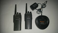 Motorola Radius CP200 Portable Two-Way Radio Pair + One Charger Used
