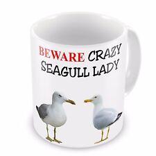 Beware Crazy SEAGULL Lady Funny Novelty Gift Mug