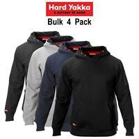 Mens Hard Yakka Brushed Fleece Hoodie 4 PACK Jumper Winter Workwear Work Y19326