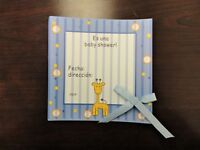FOOT PRINT BABY SHOWER INVITATIONS with Bow IT/'S A BOY 10//100