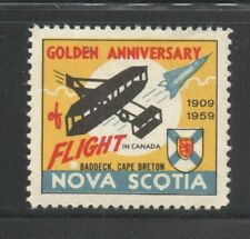 Canada Mint Cinderella 1959 Nova Scotia Flight Anniversary for Stamp Collection