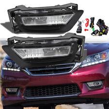 for 2013-2015 Honda Accord Sedan 4Dr Front Bumper Fog Lights Lamps Assembly L+R
