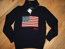 +++nwt  Polo Ralph Lauren Boys Flag Sweater sz S(8)+++