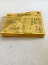 Vintage Invoices Lot Of 21 Ritchie Auto Parts Concord Nc Napa 10ea 66, 11ea 1967
