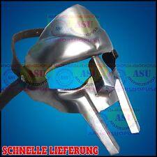 Gladiator Helm Gesicht Maske römisch Gesichtsmaske Eisenstahl mit Leder Gurt