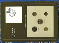 Coin Sets of All Nations Chile UNC 100 P 1985 1,5 Pesos 1986 50 P 1982 10 P 1987