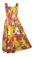 Cotton Long Boho Maxi Dress Sleeveless Party Evening Size 14 16 18 20 22 24