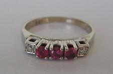 Wow✨ Rubinring in aus 585 Gold Ring Damenring mit Diamant Brillant Rubin Schmuck