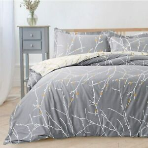 GREY DUVET COVER 100% EGYPTIAN COTTON QUILT COVERS BEDDING SETS DOUBLE KING SIZE