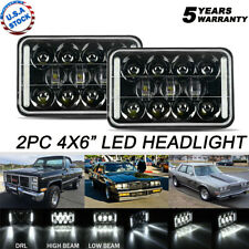 Pair 4x6'' inch LED Rectangular Headlight Hi/Lo For Peterbil Kenworth Freighting