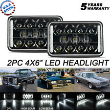 Pair 4x6'' inch LED Rectangular Headlight Hi/Lo For Peterbil Kenworth Freighting