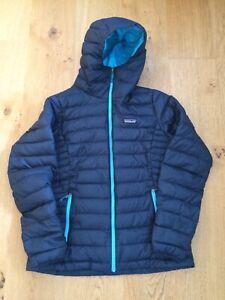 Patagonia Women's Down Sweater Hoody Jacket, Navy Blue, Size M
