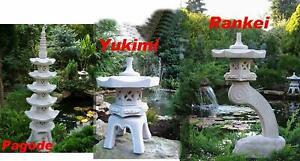 3 Stück Pagode+Rankei+Yukimi Japanische Steinlaterne Gartendekoration